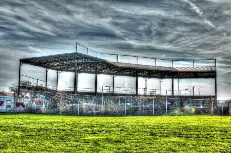 Hamtramck Stadium by Matthew Herch; Photo Courtesy Friends of Historic Hamtramck Stadium.